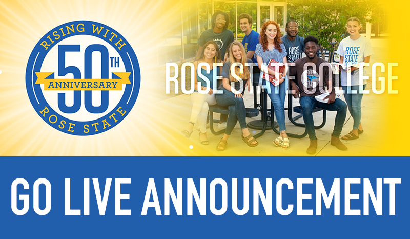 Go-live announcement for Rose State College